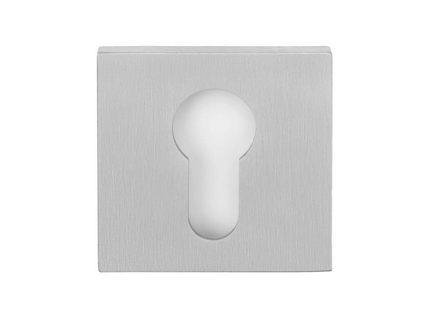 Square stainless steel keyhole escutcheon RIBBON | Keyhole escutcheon by Formani