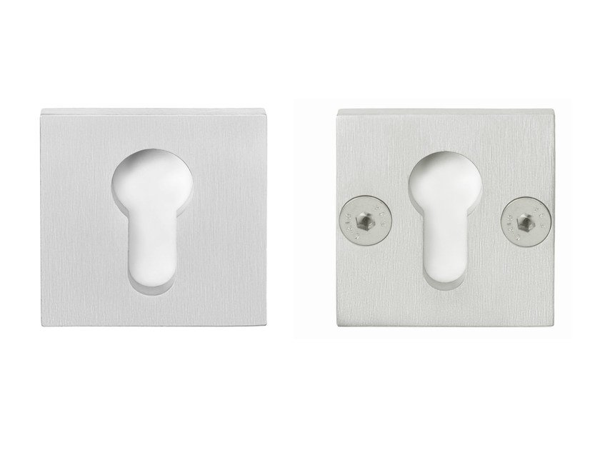 Square stainless steel keyhole escutcheon RIBBON | Stainless steel keyhole escutcheon by Formani