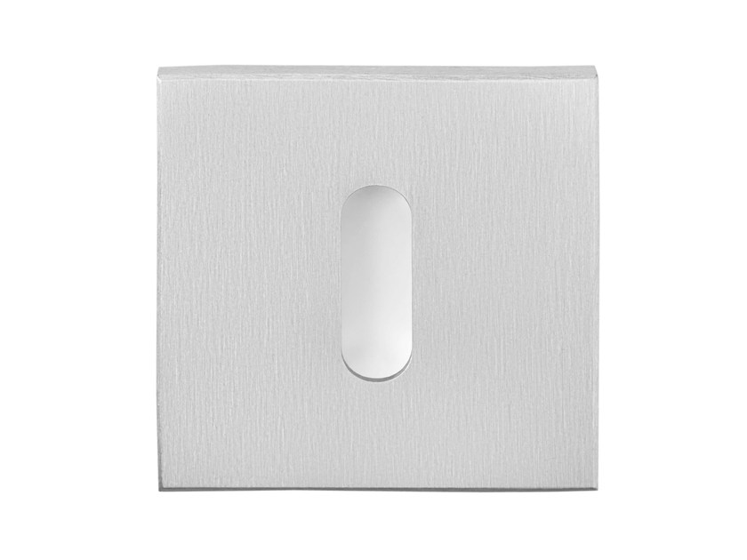 Square stainless steel keyhole escutcheon RIBBON | Square keyhole escutcheon by Formani