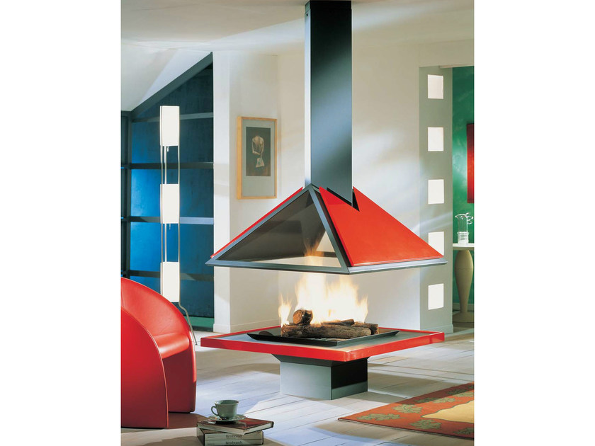Open central fireplace AMILIA 996 by JC Bordelet