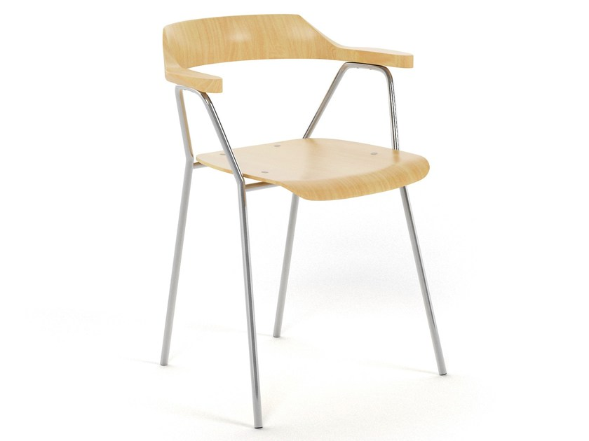 Stackable chair 4455 CHAIR by Rex Kralj