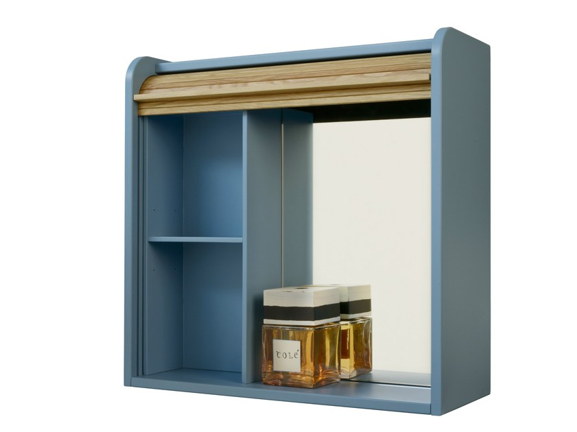 Wall cabinet with mirrored back with shelves TAPPARELLE | Wall cabinet with mirrored back by Colé Italia