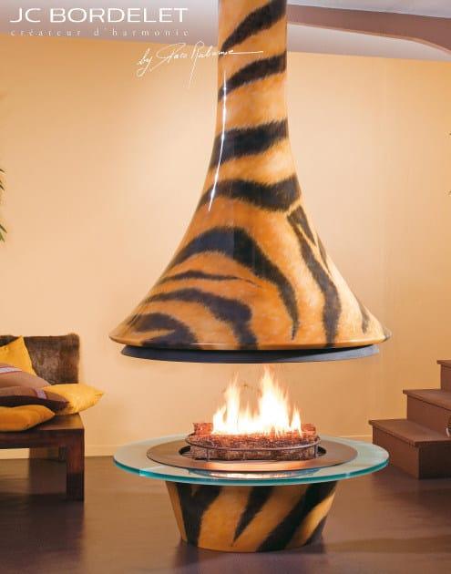 Open central fireplace EVA 992 TIGRE by JC Bordelet