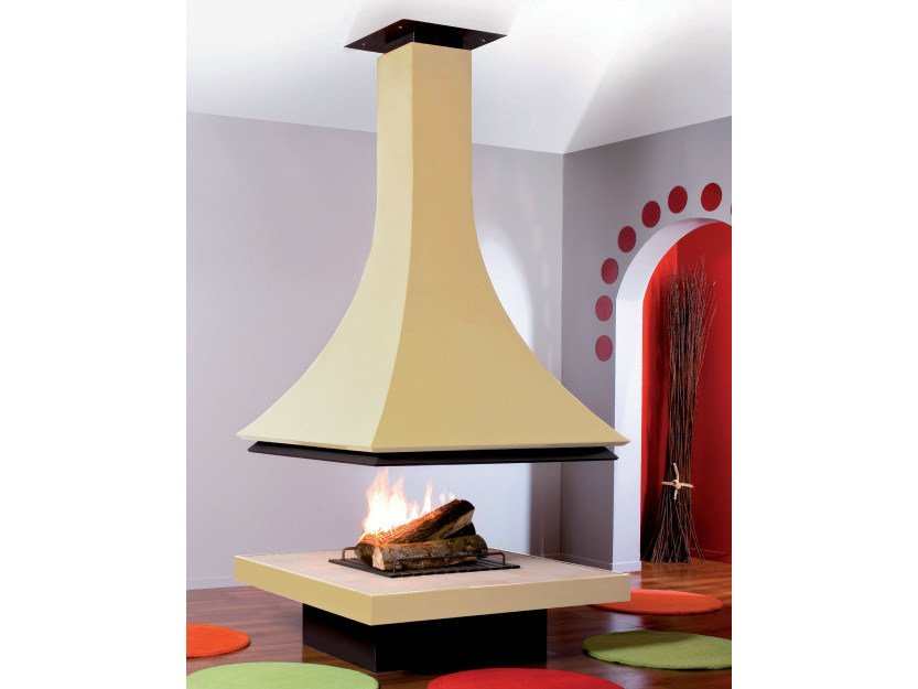 Open central fireplace JULIETTA 985 | Fireplace by JC Bordelet