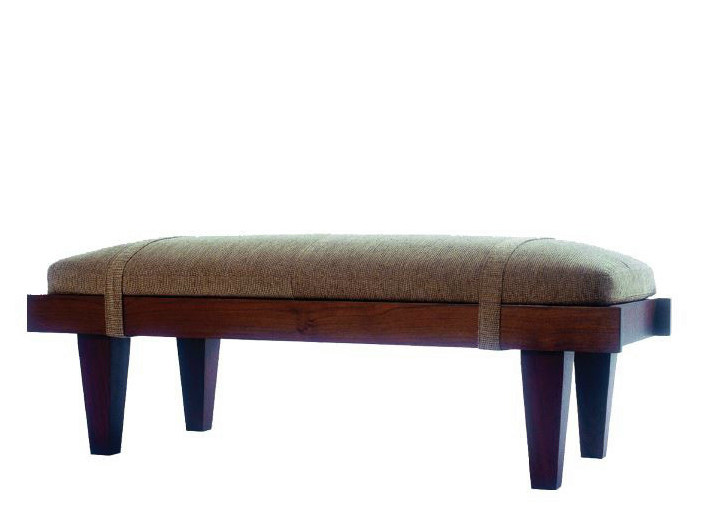 Upholstered fabric bench NAKAL by WARISAN