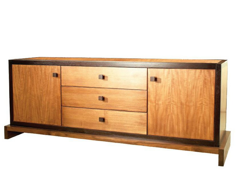 Wooden sideboard with drawers HOWKER by WARISAN