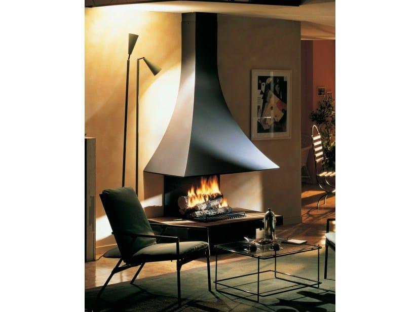 Wood-burning wall-mounted fireplace JULIETTA 985 | Wall-mounted fireplace by JC Bordelet