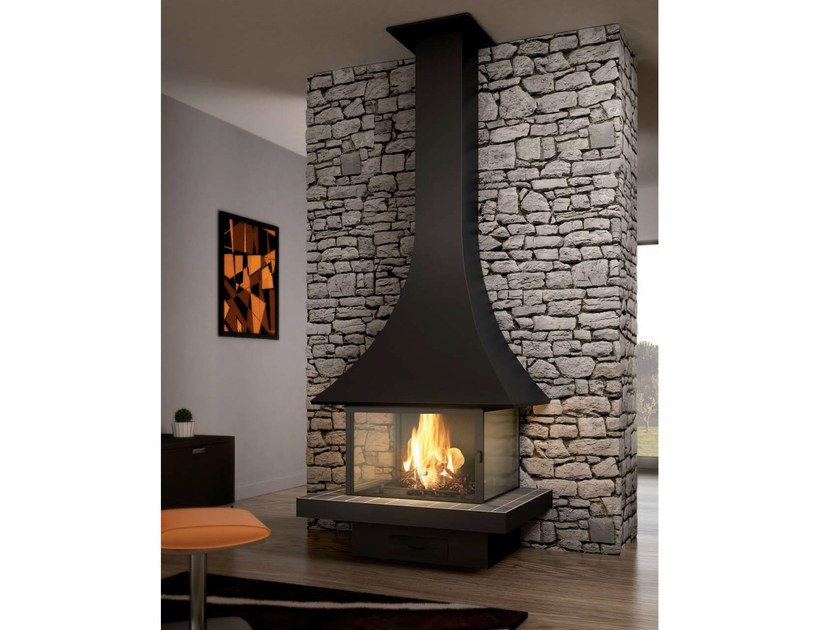 Closed fireplace with panoramic glass JULIETTA 985 | Closed fireplace by JC Bordelet