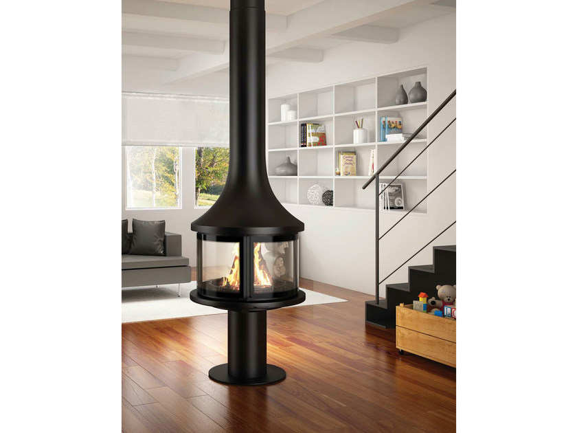 Central fireplace with panoramic glass LEA 998 | Central fireplace by JC Bordelet