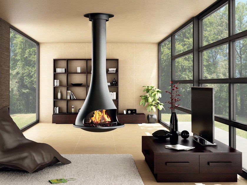 open hanging fireplace tatiana 997 by jc bordelet. Black Bedroom Furniture Sets. Home Design Ideas