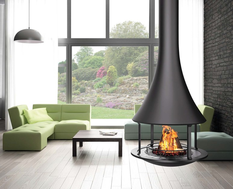 Open hanging fireplace ZELIA 908 | Hanging fireplace by JC Bordelet