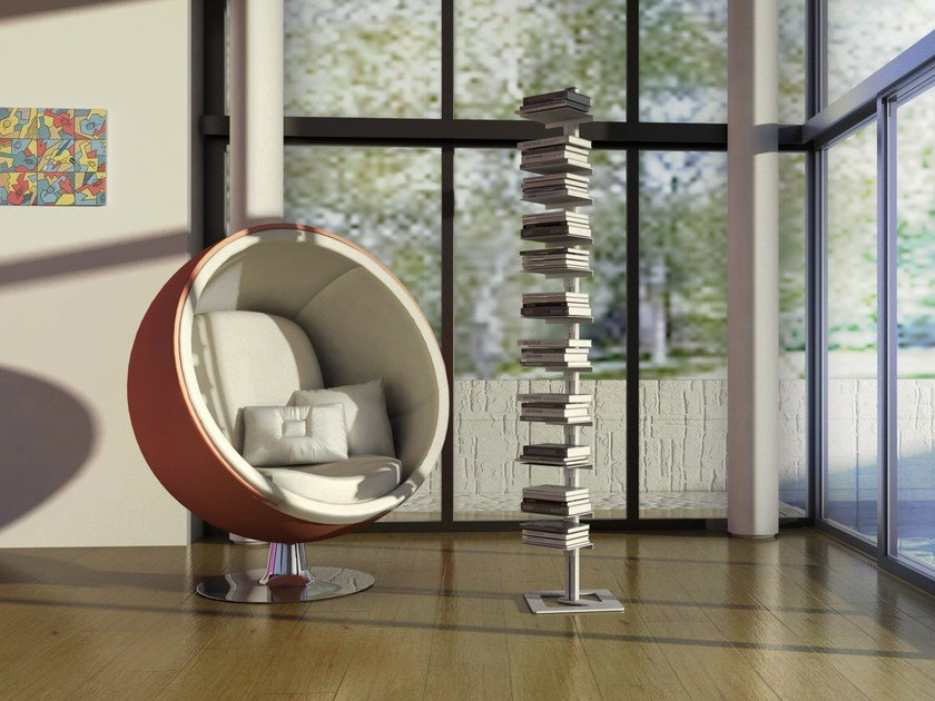 Open freestanding bookcase AMBROGIO | Freestanding bookcase by STUDIO T