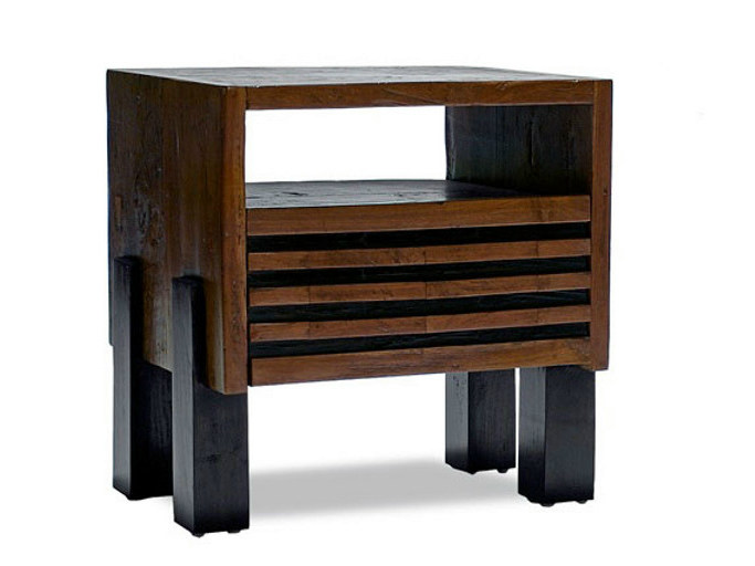 Wooden coffee table with integrated magazine rack for living room MIRAI | Coffee table by WARISAN