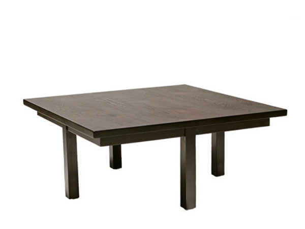 Square wooden coffee table for living room NEO PRIMITIVE   Square coffee table by WARISAN
