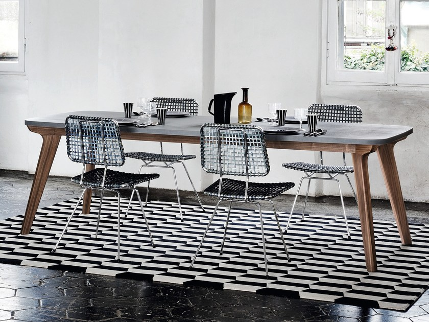 Rectangular dining table BRICK 233 by Gervasoni