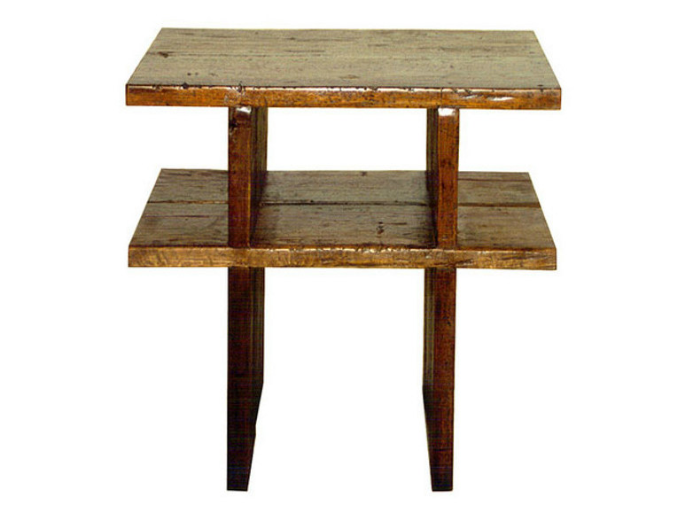 Wooden coffee table for living room NEO PRIMITIVE | Coffee table with integrated magazine rack by WARISAN