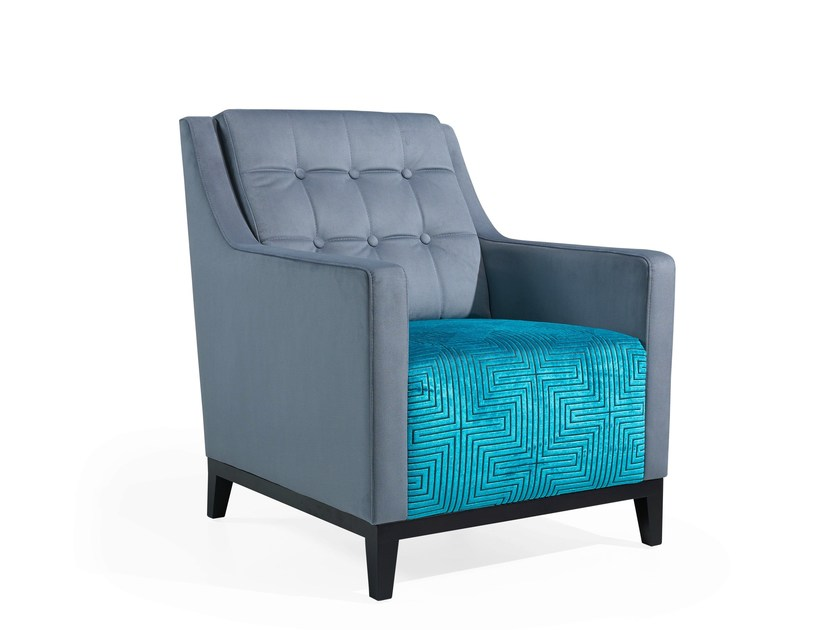 Fabric armchair with armrests NOTY | Armchair by Fenabel