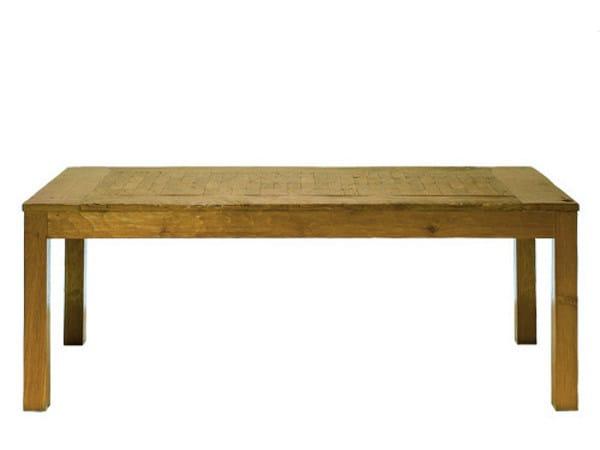 Rectangular teak dining table INLAID | Rectangular table by WARISAN