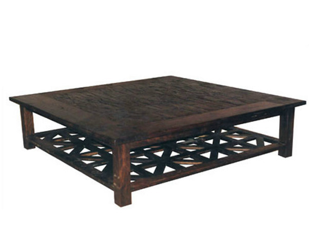 Wooden coffee table with integrated magazine rack INLAID | Coffee table with integrated magazine rack by WARISAN