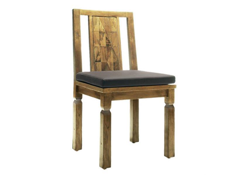 Teak chair INLAID | Chair by WARISAN