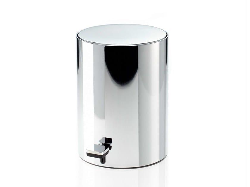 Metal bathroom waste bin TE 50 by DECOR WALTHER