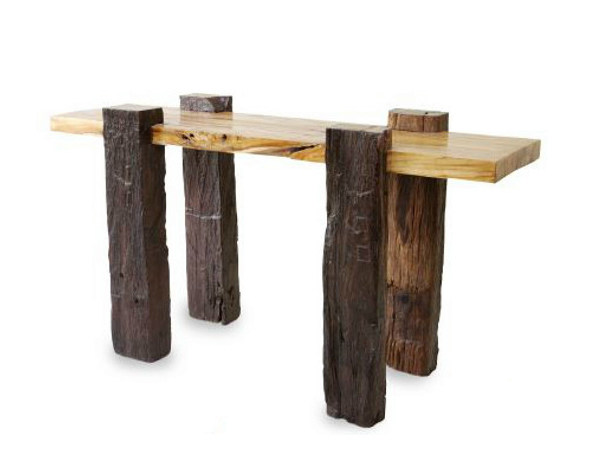 Rectangular wooden console table ORIGINS   Console table by WARISAN