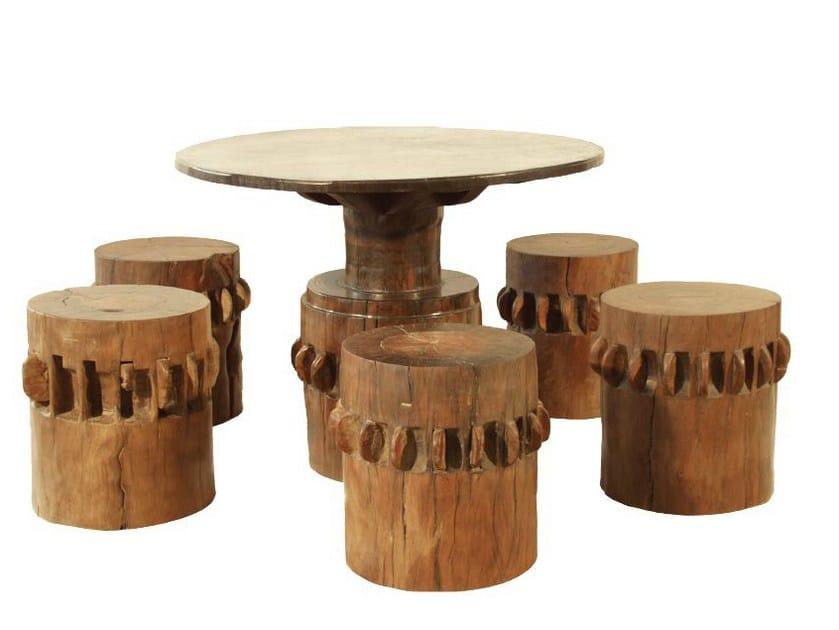 Sgabello da giardino in legno origins sgabello warisan