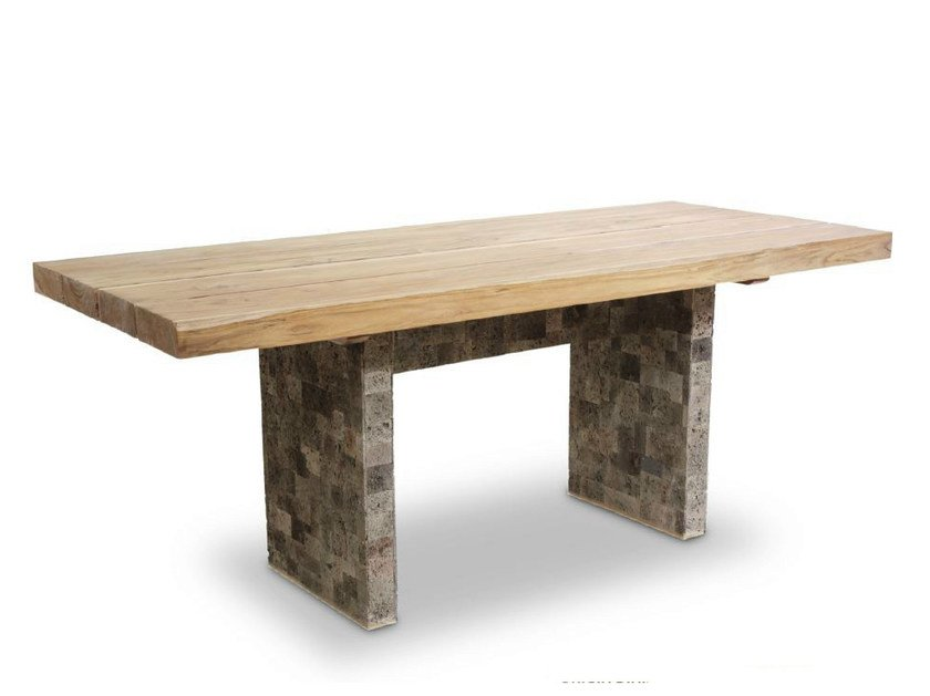 Rectangular wooden table ORIGINS | Table by WARISAN