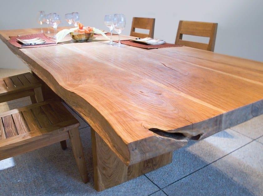 Rectangular wooden table ORIGINS | Rectangular table by WARISAN