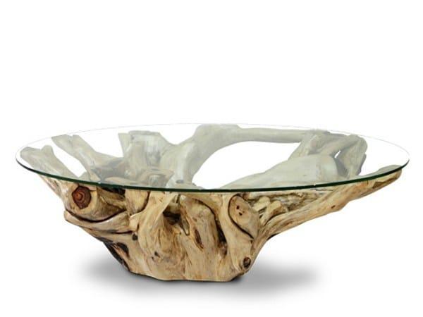 Tavolino in legno e vetro da salotto ORIGINS | Tavolino in legno e ...