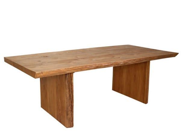 Tavolo da pranzo rettangolare in legno origins tavolo in legno warisan - Ristrutturare tavolo in legno ...