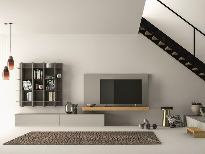 Sectional storage wall SLIM 111 by Dall'Agnese