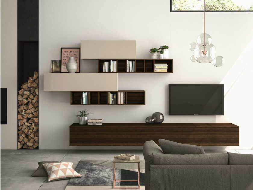 Sectional storage wall SLIM 110 by Dall'Agnese
