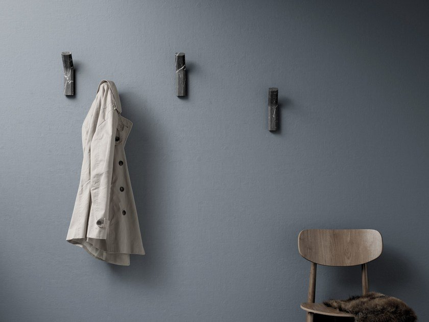 Wall-mounted marble coat rack ALAKA   Coat rack by RETEGUI