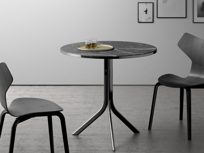 Folding round table BISTRO | Marble table by RETEGUI