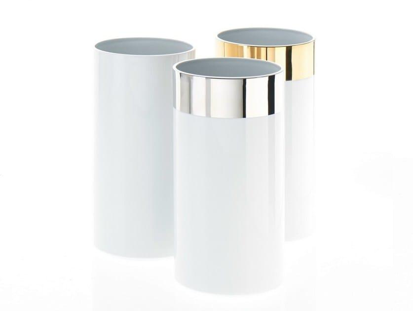 Porcelain bathroom waste bin / toilet roll holder PK L by DECOR WALTHER