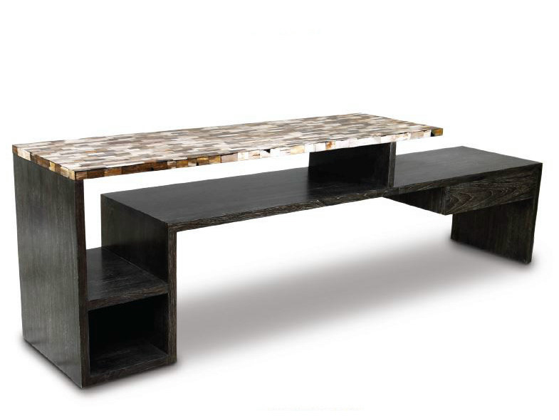 Rectangular wooden console table TIER by WARISAN