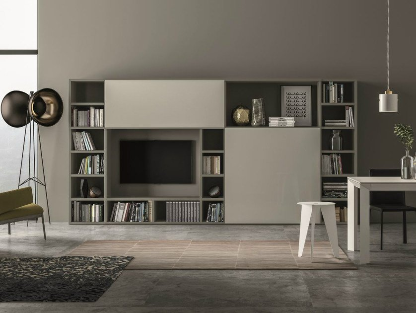 Lacquered storage wall SPEED V by Dall'Agnese