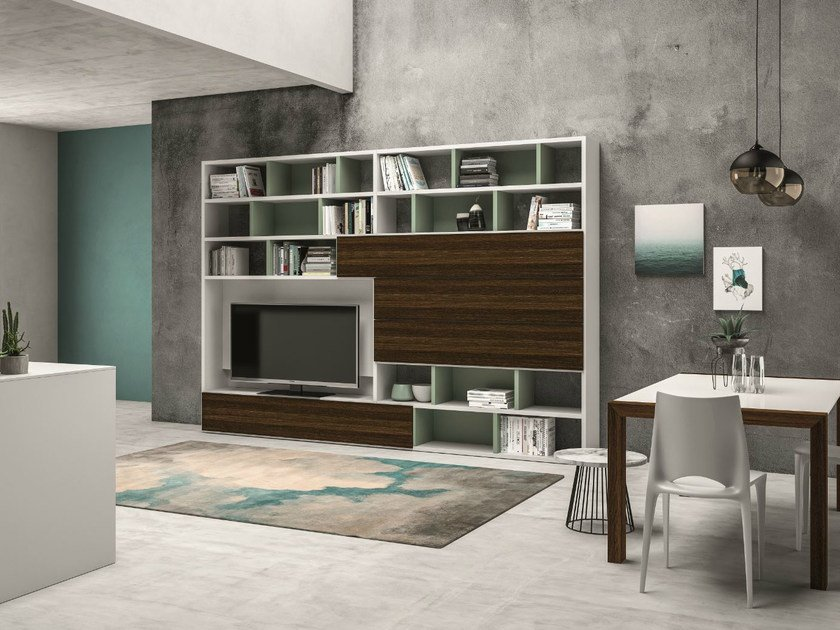 Lacquered storage wall SPEED J by Dall'Agnese