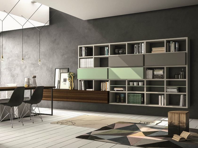 Lacquered storage wall SPEED K by Dall'Agnese