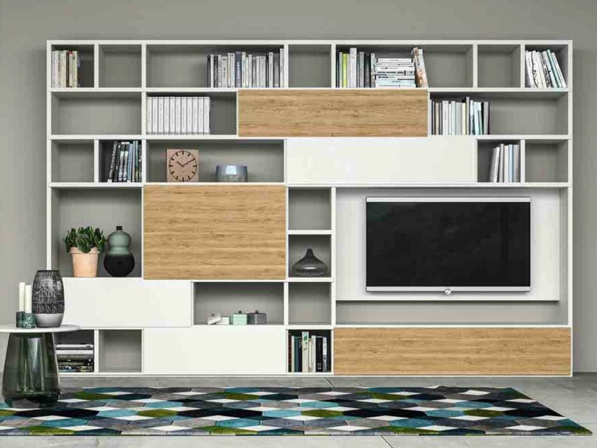 Lacquered storage wall SPEED U by Dall'Agnese