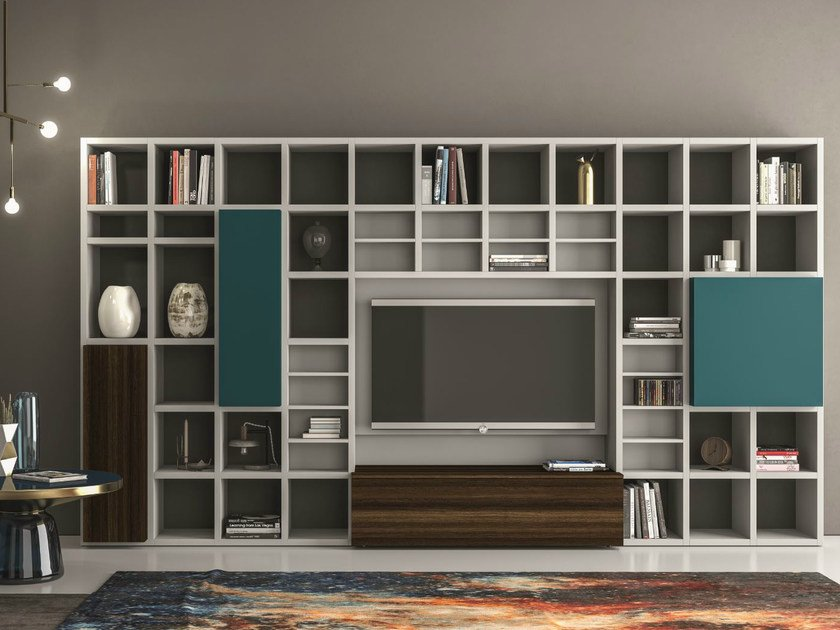 Lacquered storage wall SPEED Z by Dall'Agnese