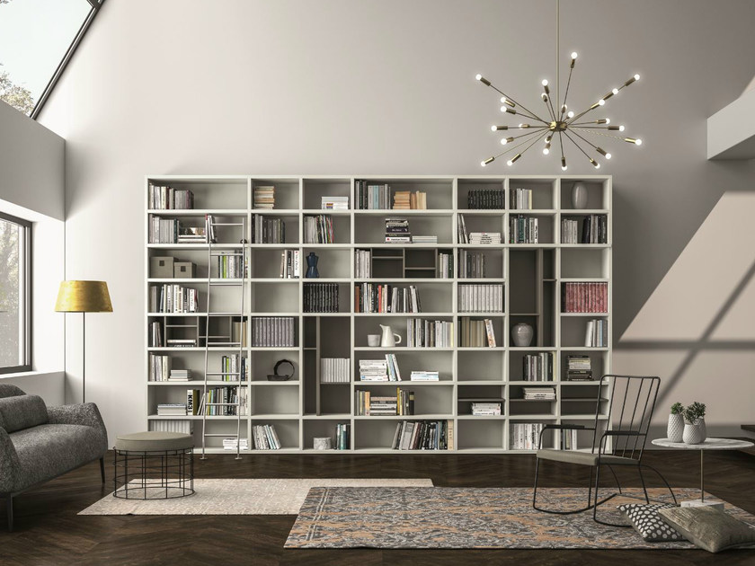 Lacquered bookcase SPEED T by Dall'Agnese