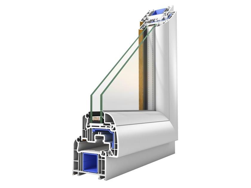 Finestra con doppio vetro in pvc platinium plus by oknoplast for Finestre doppio vetro prezzi