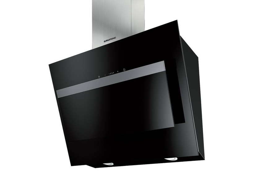 Wall-mounted crystal and stainless steel cooker hood GDK 4382 B   Cooker hood by Grundig
