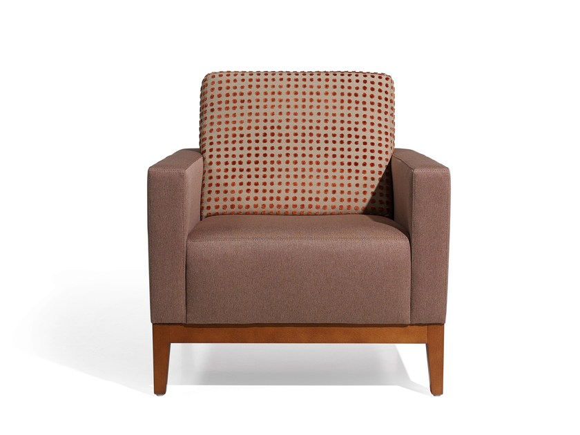 Upholstered armchair with armrests BEKET MAD by Fenabel