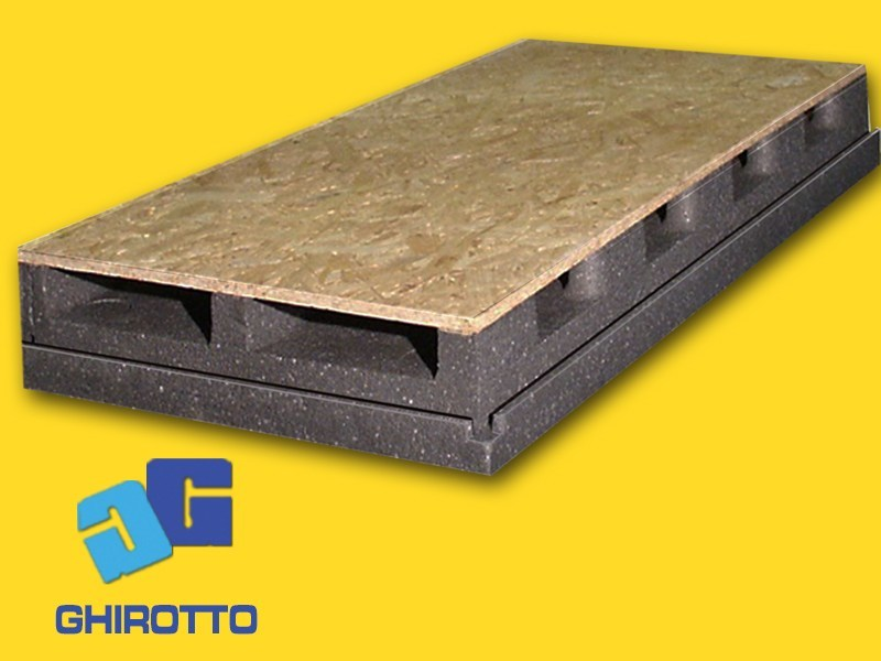 Polystyrene ventilated roof system AIRVENT 28 GRAPHITE by GHIROTTO