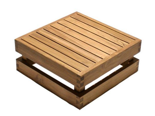 Low wooden garden side table NIKI | Low coffee table by WARISAN