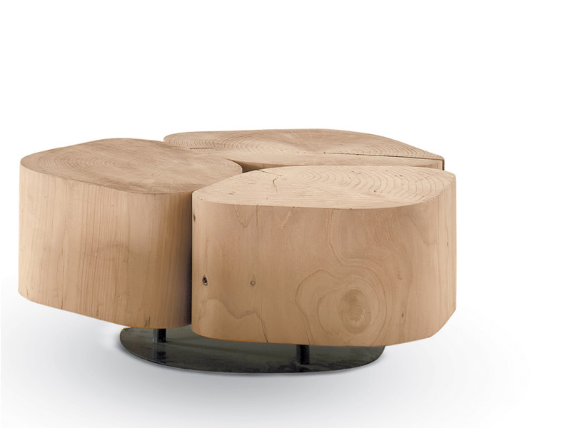 Low wooden coffee table TOBI 3 by Riva 1920