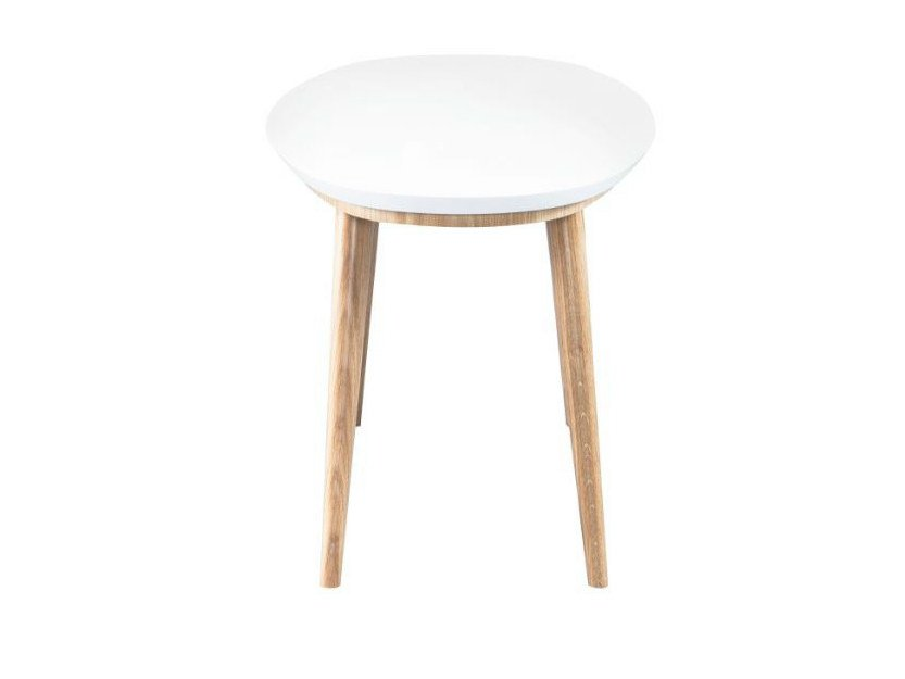 Lacquered round wooden coffee table SYRUS | Round coffee table by AZEA